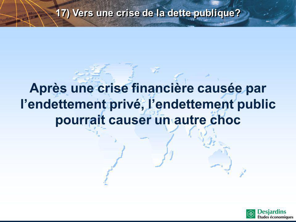 17) Vers une crise de la dette publique.