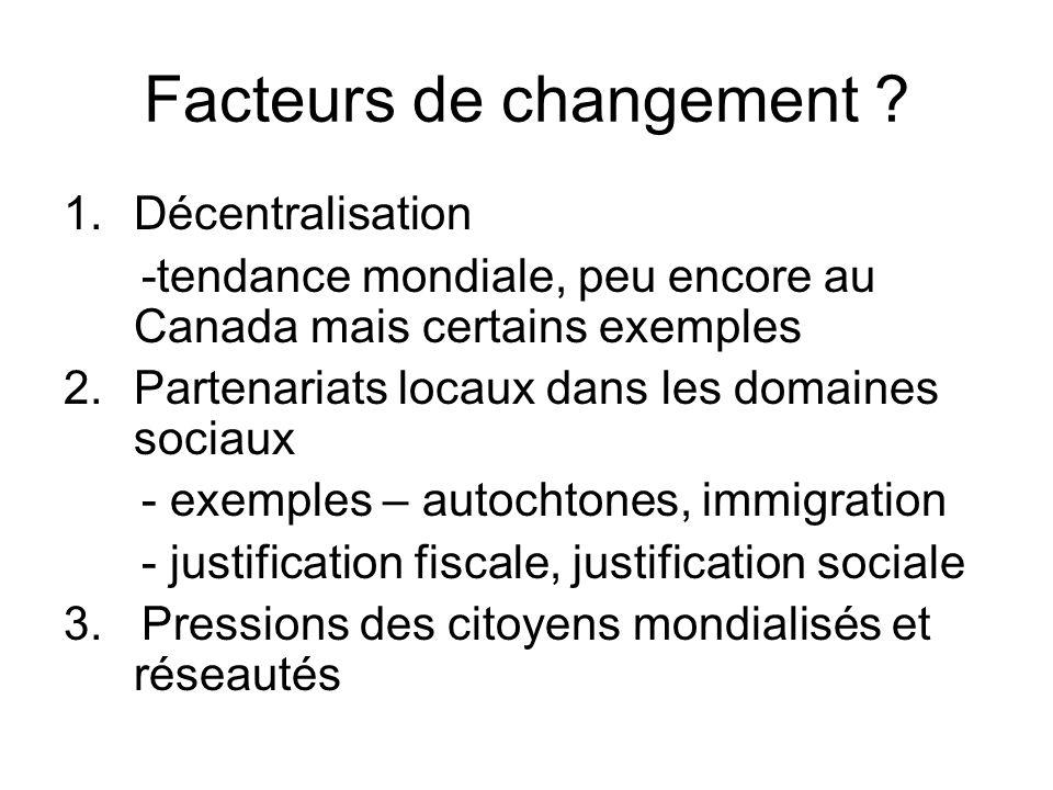 Facteurs de changement .