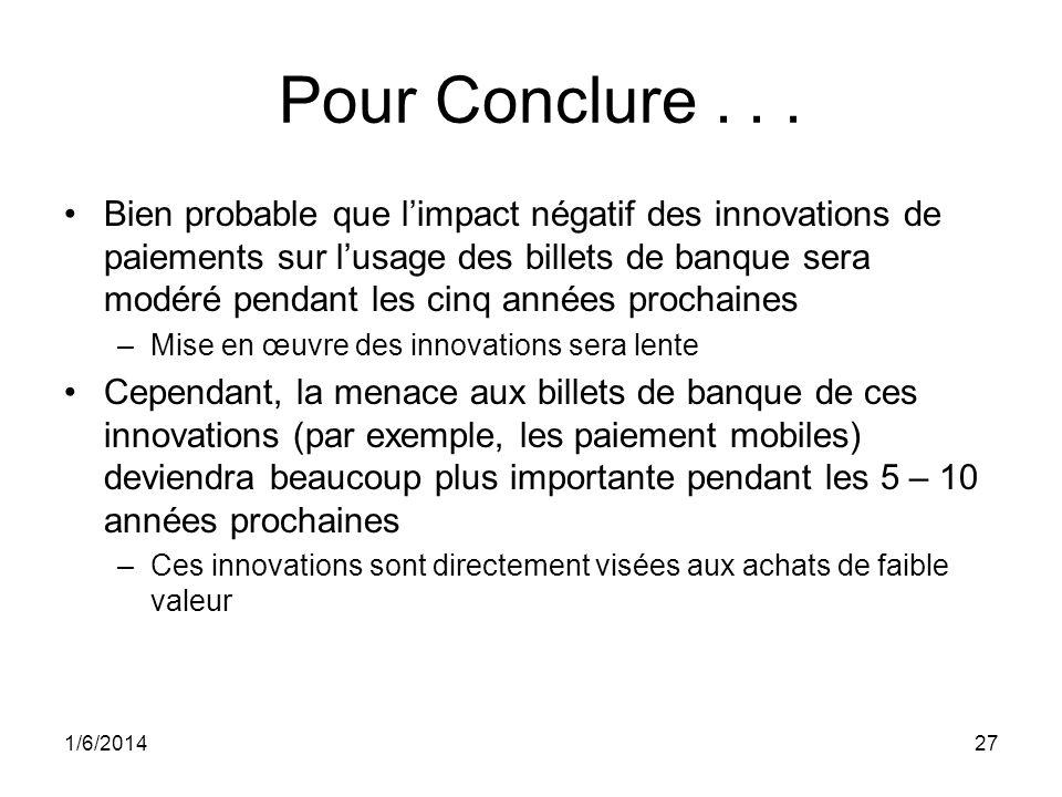 1/6/201427 Pour Conclure...