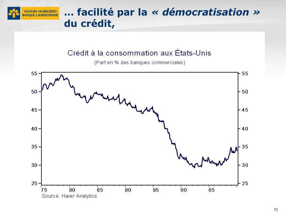 13 … facilité par la « démocratisation » du crédit,