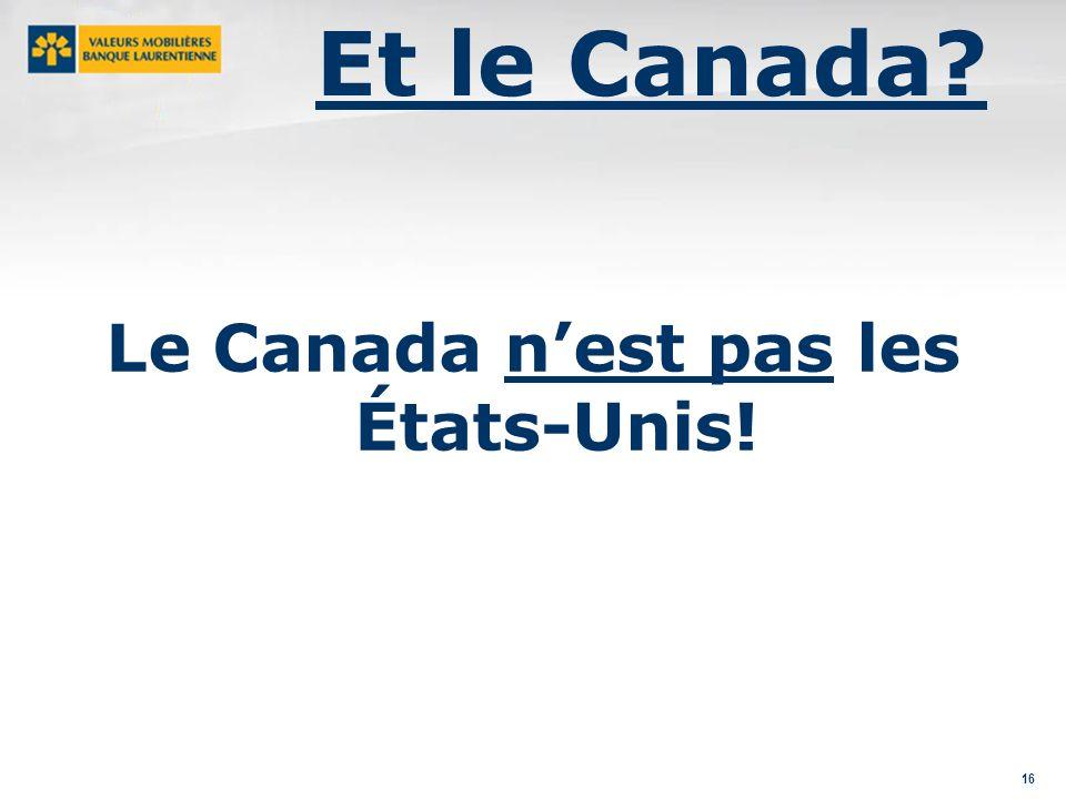 16 Le Canada nest pas les États-Unis! Et le Canada