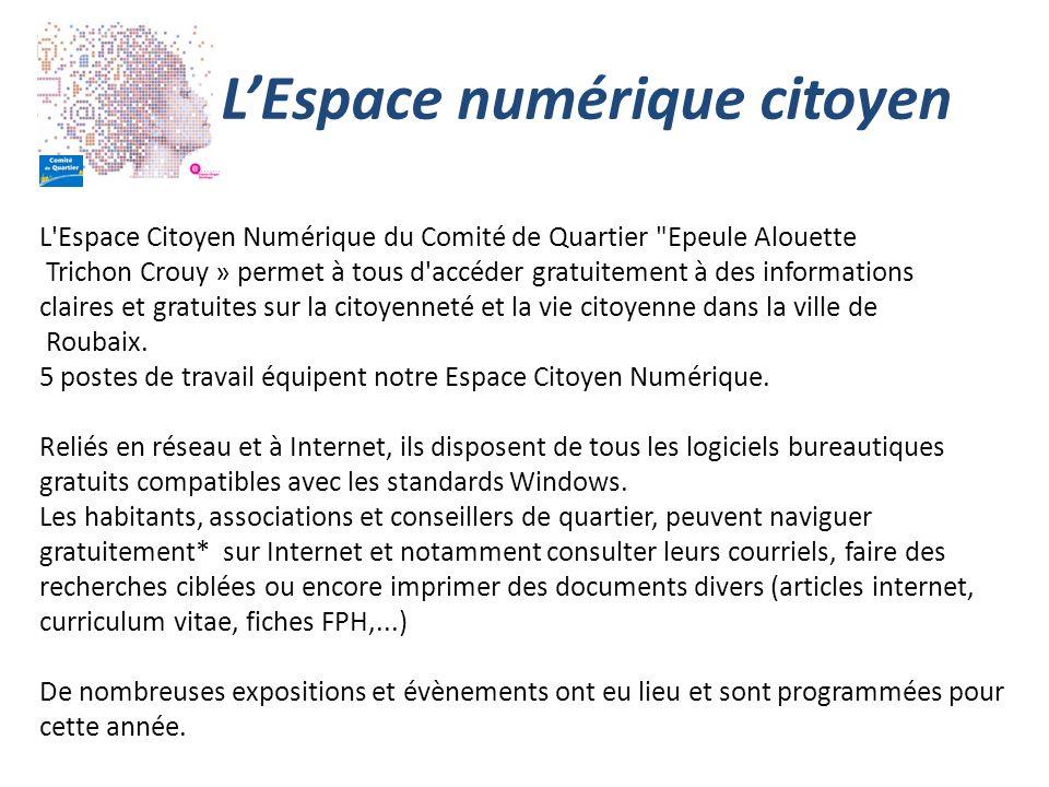 LEspace numérique citoyen L'Espace Citoyen Numérique du Comité de Quartier