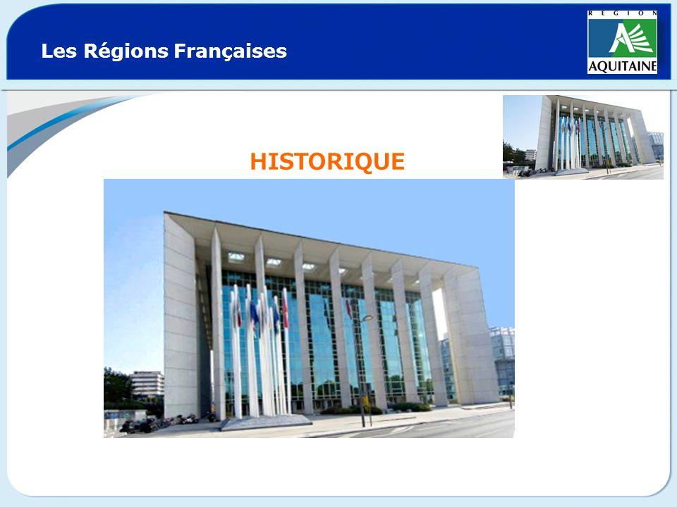 Les Régions Françaises HISTORIQUE