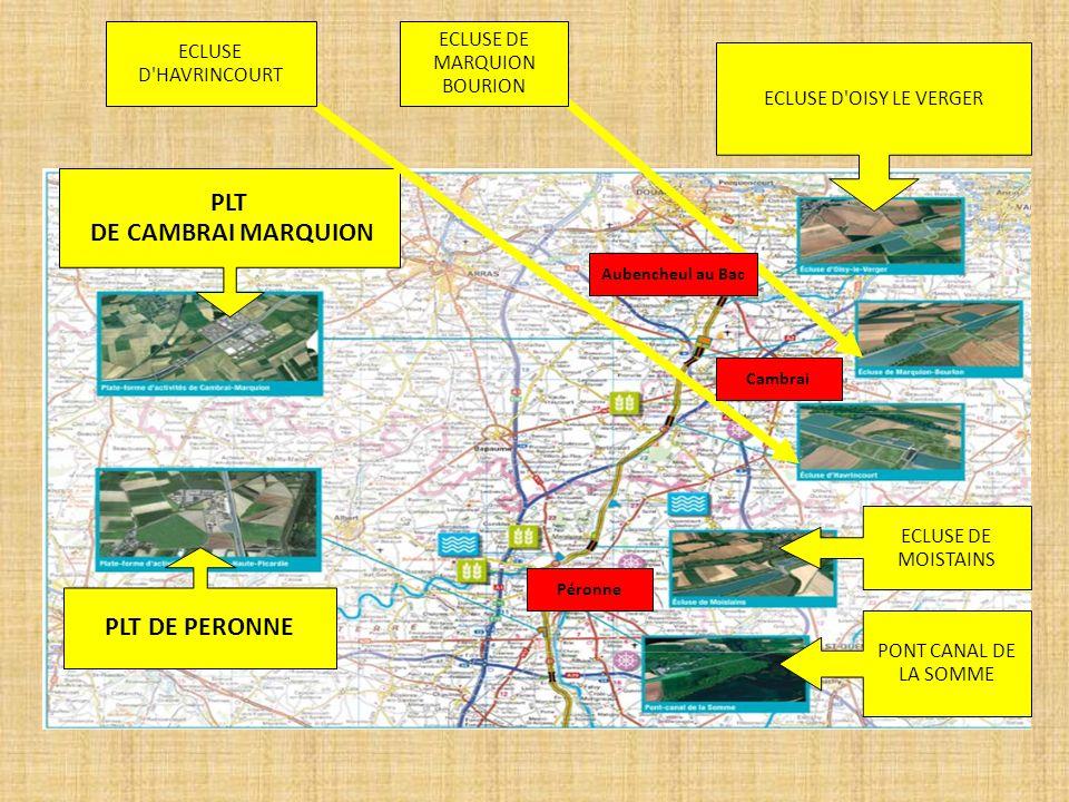 PLT DE CAMBRAI MARQUION ECLUSE D'OISY LE VERGER PLT DE PERONNE ECLUSE DE MOISTAINS PONT CANAL DE LA SOMME ECLUSE D'HAVRINCOURT ECLUSE DE MARQUION BOUR