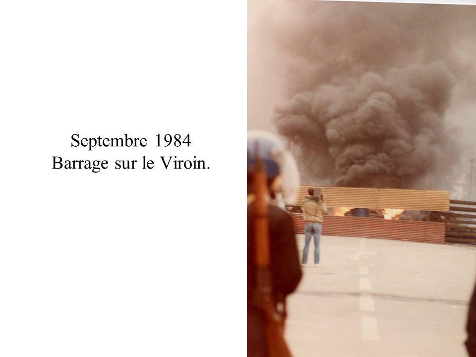 Septembre 1984 Barrage sur le Viroin.