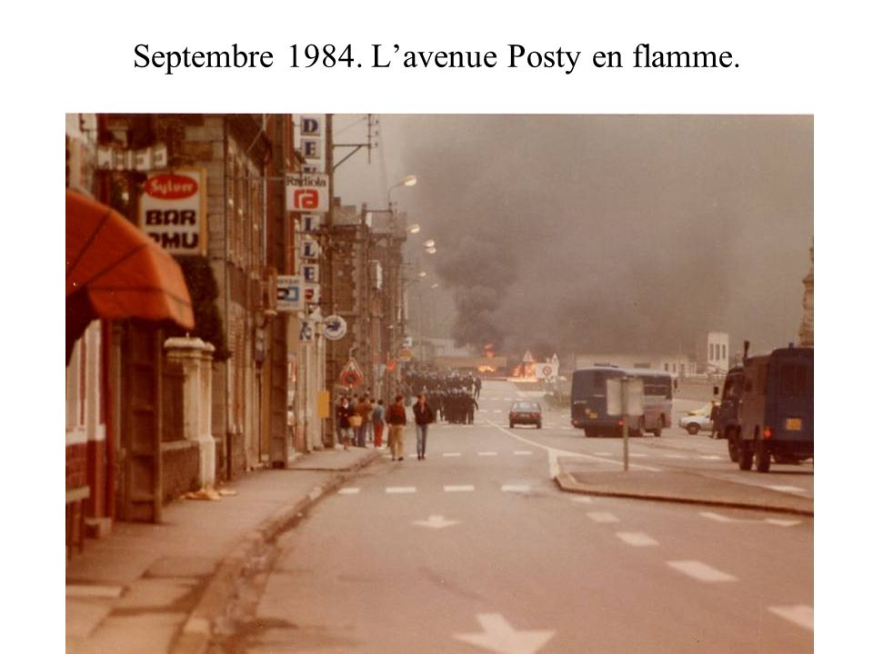 Septembre 1984. Lavenue Posty en flamme.
