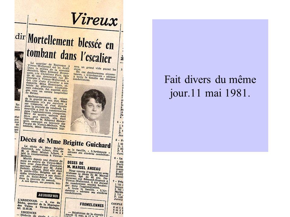14 mars 1982.La fermeture de la Chiers est au programme ainsi que des élections cantonales.