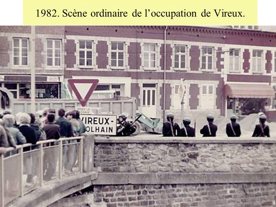 1982. Scène ordinaire de loccupation de Vireux.