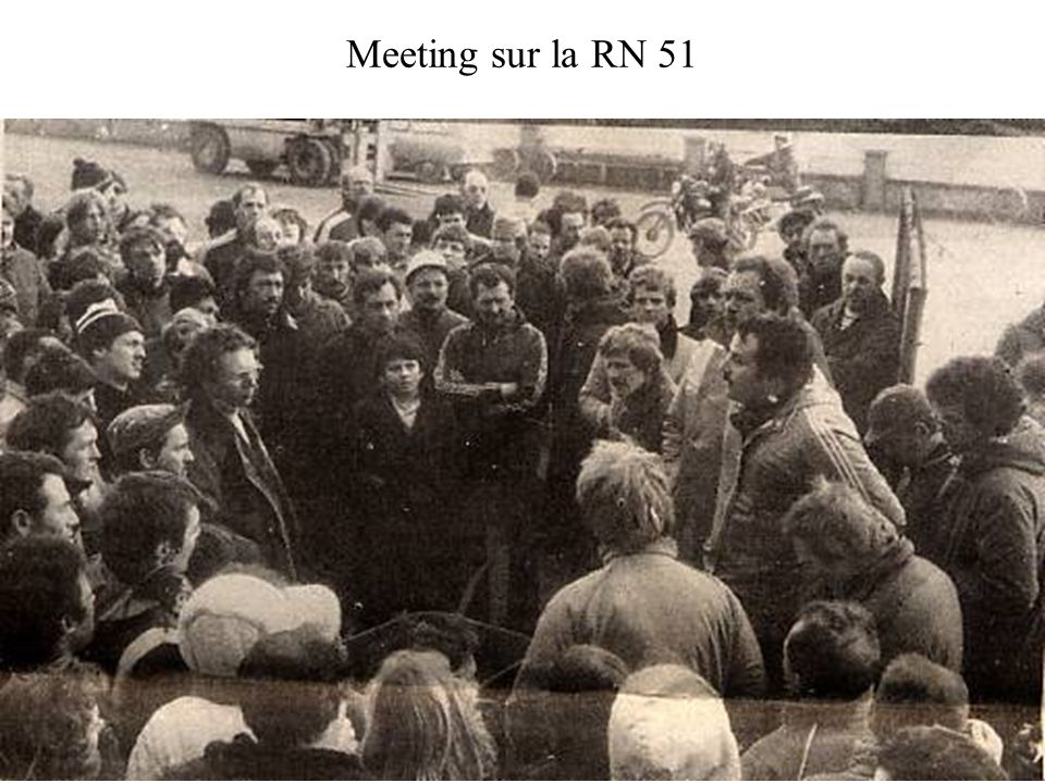 Meeting sur la RN 51