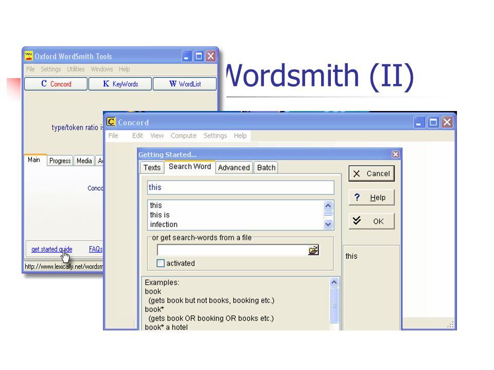 Wordsmith (II)