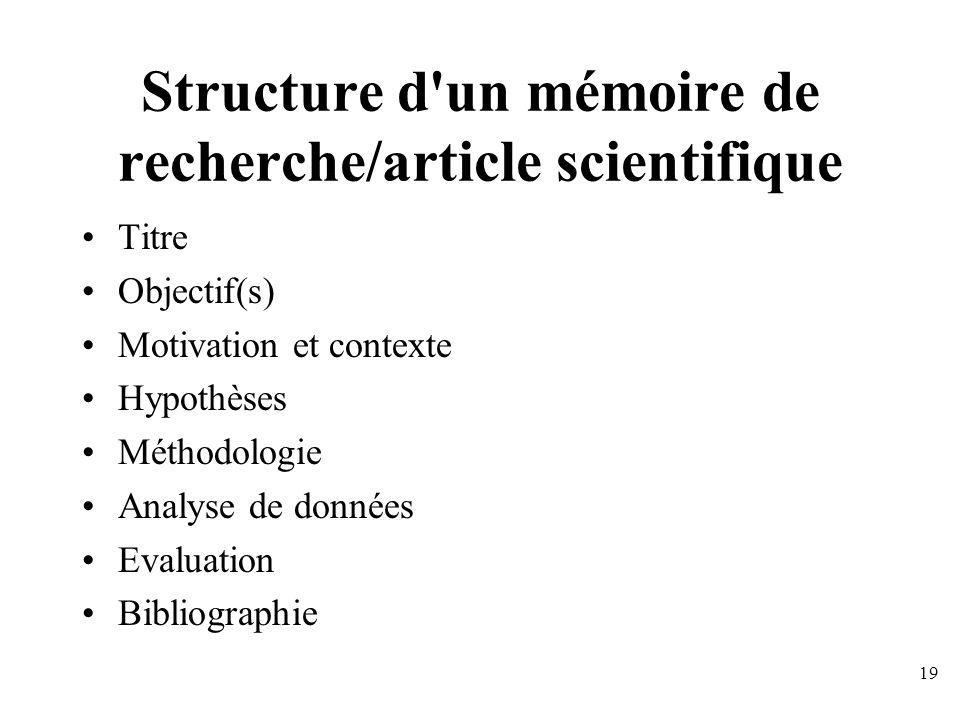 Critique d'un article scientifique