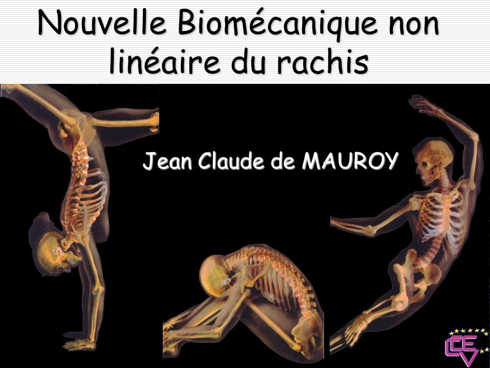 Structure du corps vertébral Les structures osseuses ne se touchent pas comme dans les systèmes à intégrité de tension.