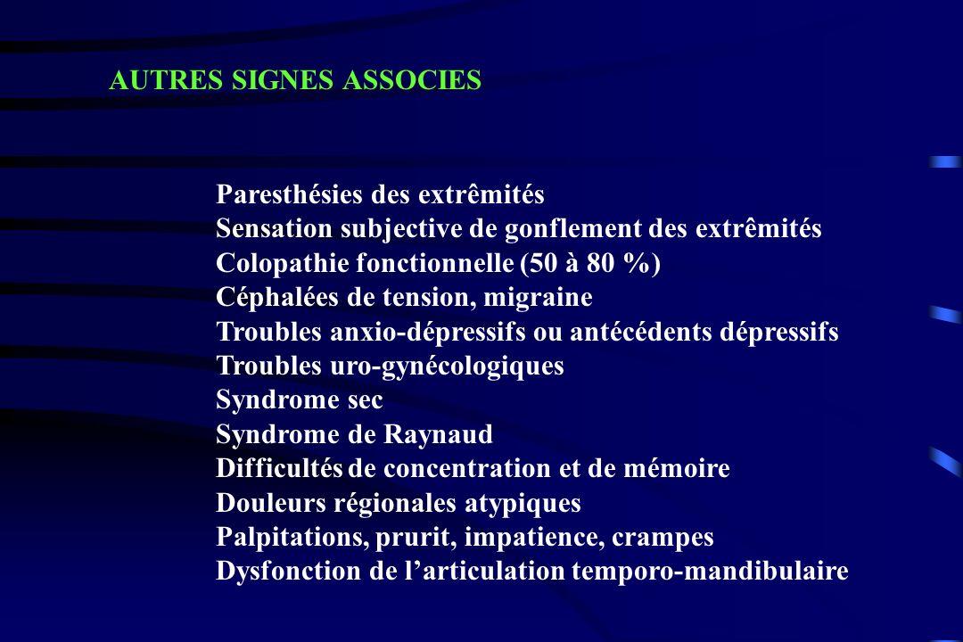 Très nombreuses consultations spécialisées Retard diagnostic en cas de pathologie organique associée DEUX ECUEILS A EVITER Douleurs chroniques et diffuses avec :.