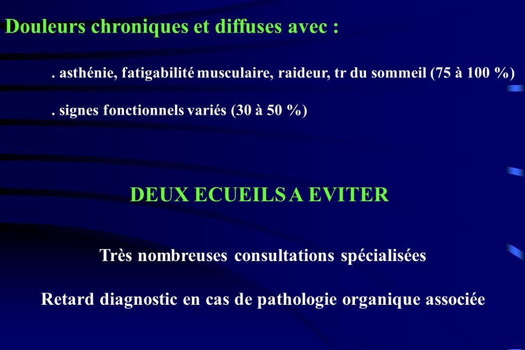 Diagnostic différentiel : Lupus, PR, Gougerot-Sjögren, Maladie de Behçet, PPR, … Les pathologies musculaires Les endocrinopathies : hypothyroïdie, … Diabète, hépatites virales, insuffisance rénale, anémie, … Médicaments : hypocholestérolémiants Maladie de Lyme, …
