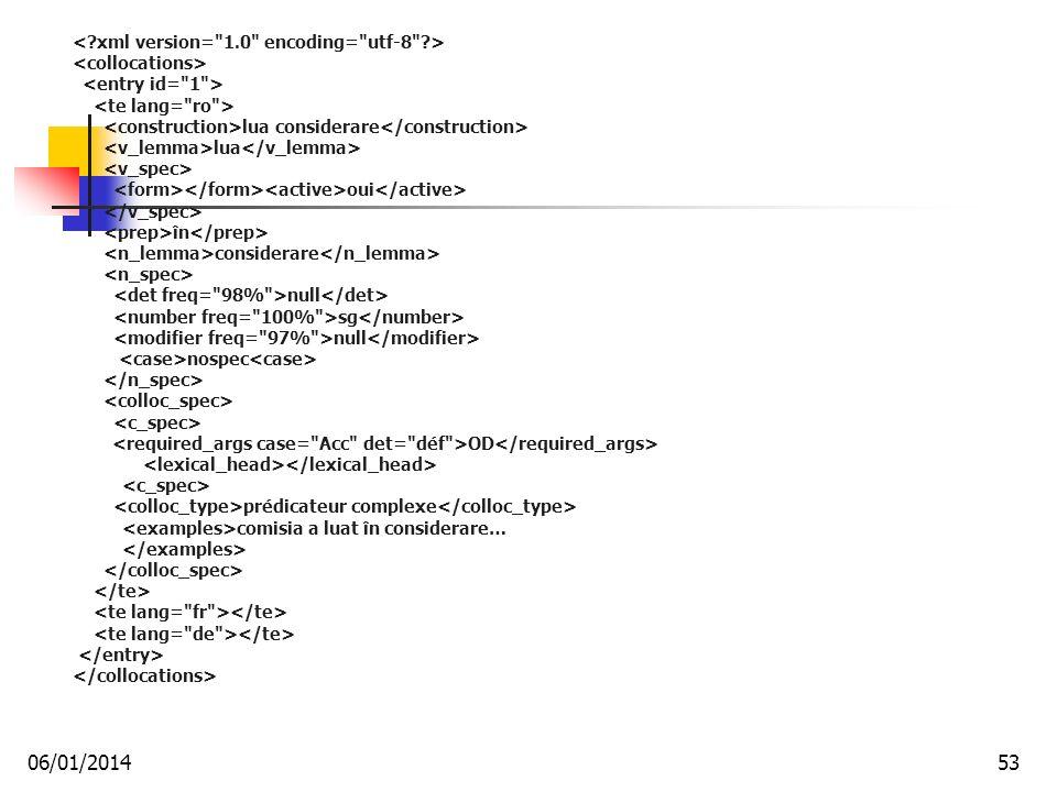 lua considerare lua oui în considerare null sg null nospec OD prédicateur complexe comisia a luat în considerare… 06/01/201453