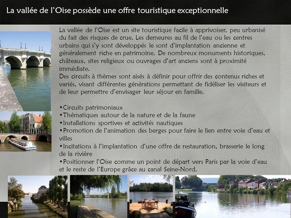 La vallée de lOise est un site touristique facile à apprivoiser, peu urbanisé du fait des risques de crue.