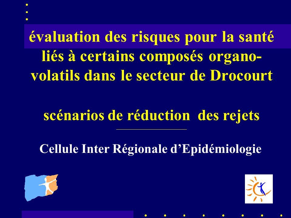 évaluation des risques pour la santé liés à certains composés organo- volatils dans le secteur de Drocourt scénarios de réduction des rejets _____________________________ Cellule Inter Régionale dEpidémiologie