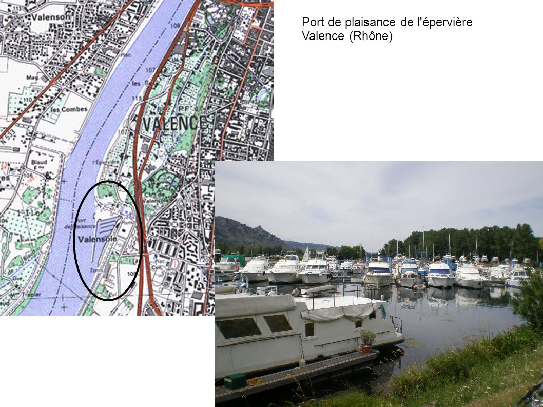 Port de plaisance de l'épervière Valence (Rhône)