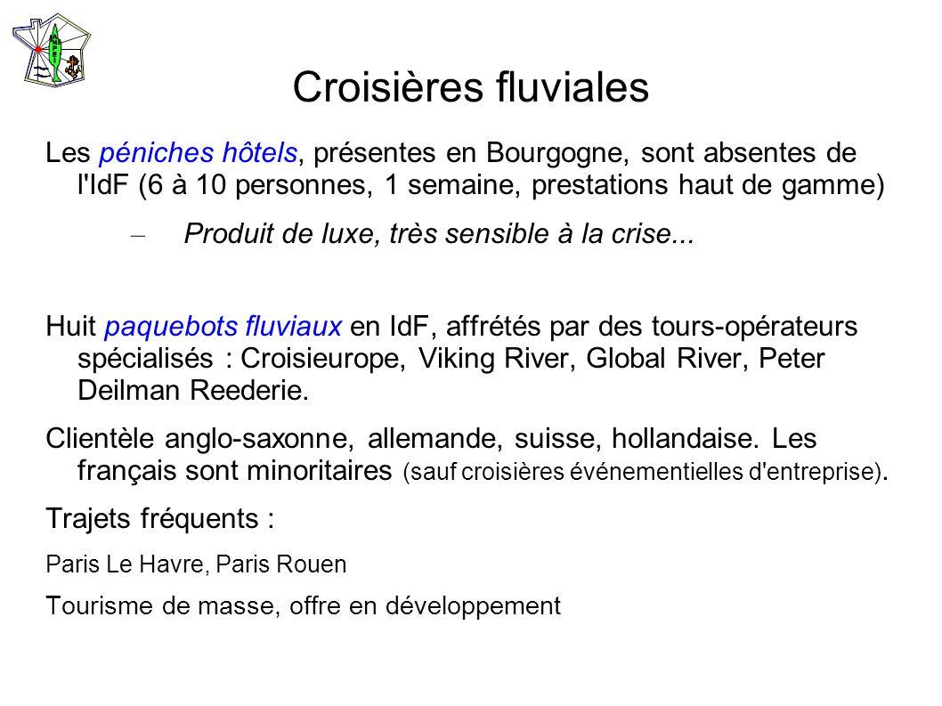 Croisières fluviales Les péniches hôtels, présentes en Bourgogne, sont absentes de l'IdF (6 à 10 personnes, 1 semaine, prestations haut de gamme) – Pr