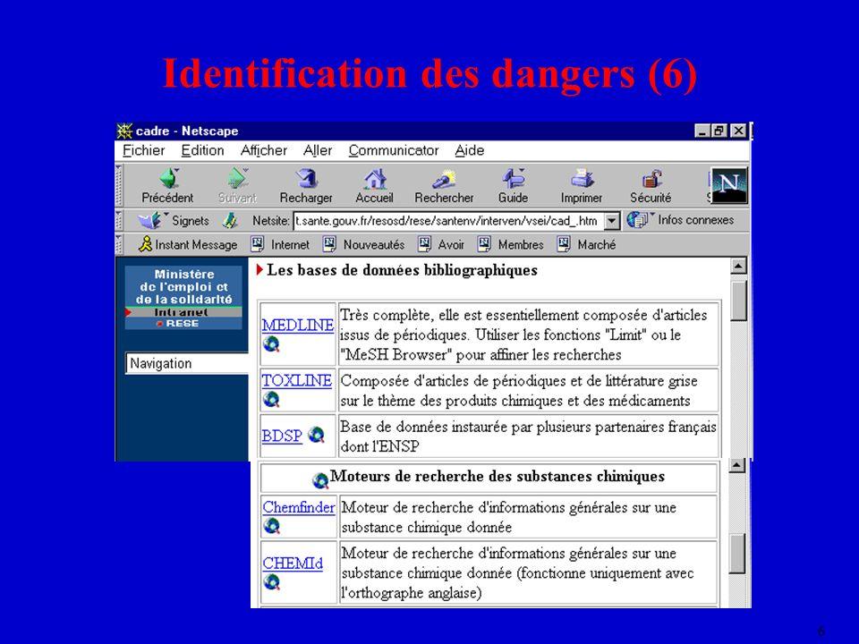 6 Identification des dangers (6)