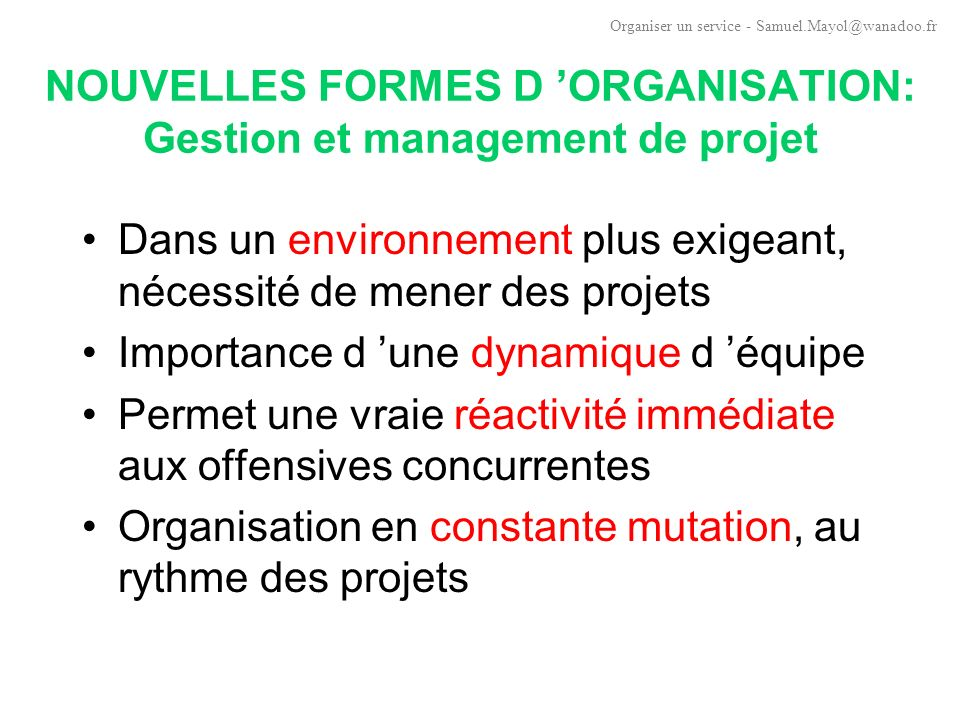 THEORIE DES ORGANISATIONS: Les réactions à l ost Henri Mintzberg (1982) : synthèse des travaux sur la contingence.