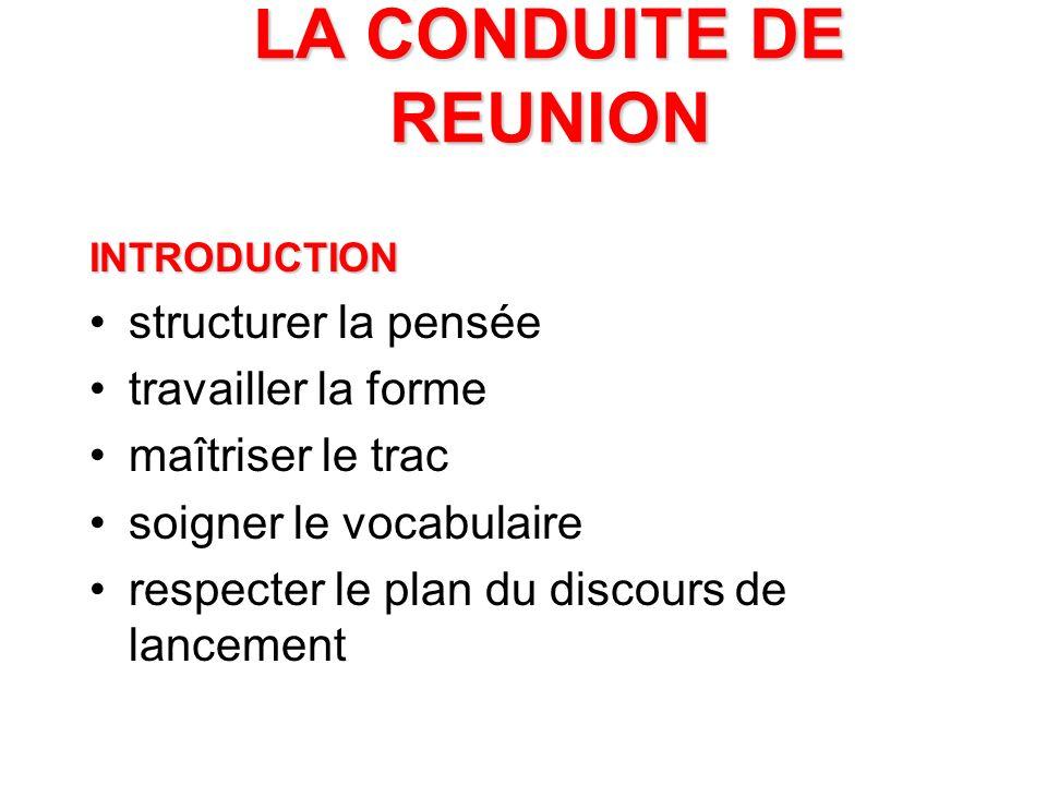 LE ROLE DE L ANIMATEUR Plusieurs casquettes: –animateur –participant –supérieur hiérarchique Son rôle: –prépare –introduit –synthétise et conclut –gère le relationnel