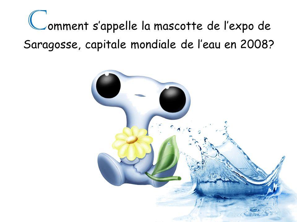C omment sappelle la mascotte de lexpo de Saragosse, capitale mondiale de leau en 2008?