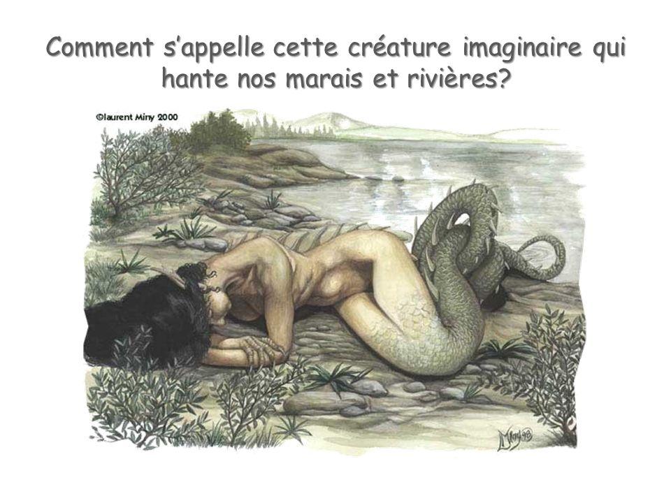 Comment sappelle cette créature imaginaire qui hante nos marais et rivières?