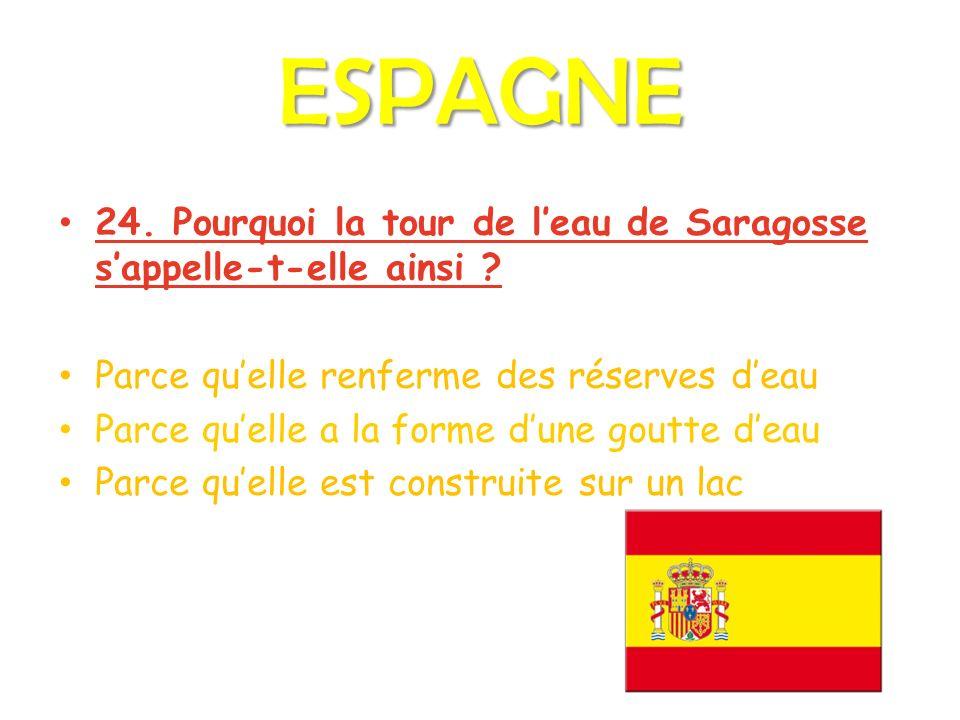 ESPAGNE 24. Pourquoi la tour de leau de Saragosse sappelle-t-elle ainsi .