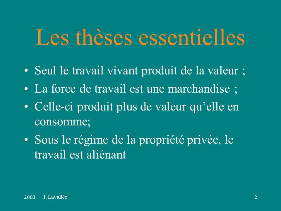 20031 Lanalyse marxiste du capitalisme I. Lavallée
