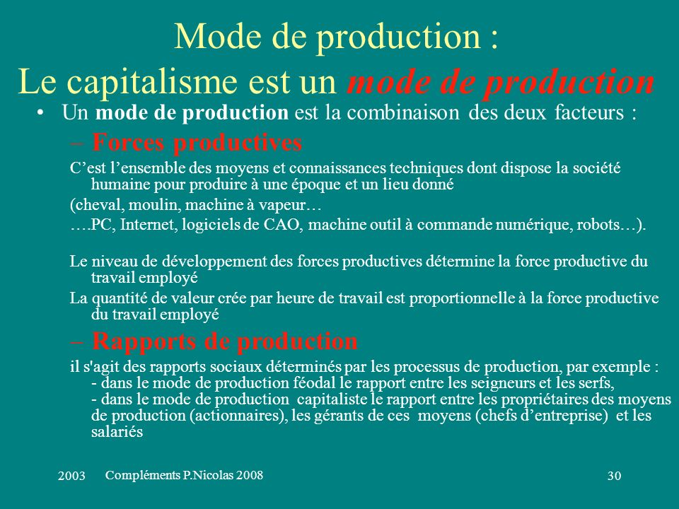 200329 Accumulation du capital Dividendes (revenu) et Accumulation du capital (patrimoine) sont les deux sources denrichissement des propriétaires des