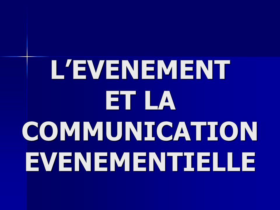 LEVENEMENT ET LA COMMUNICATION EVENEMENTIELLE