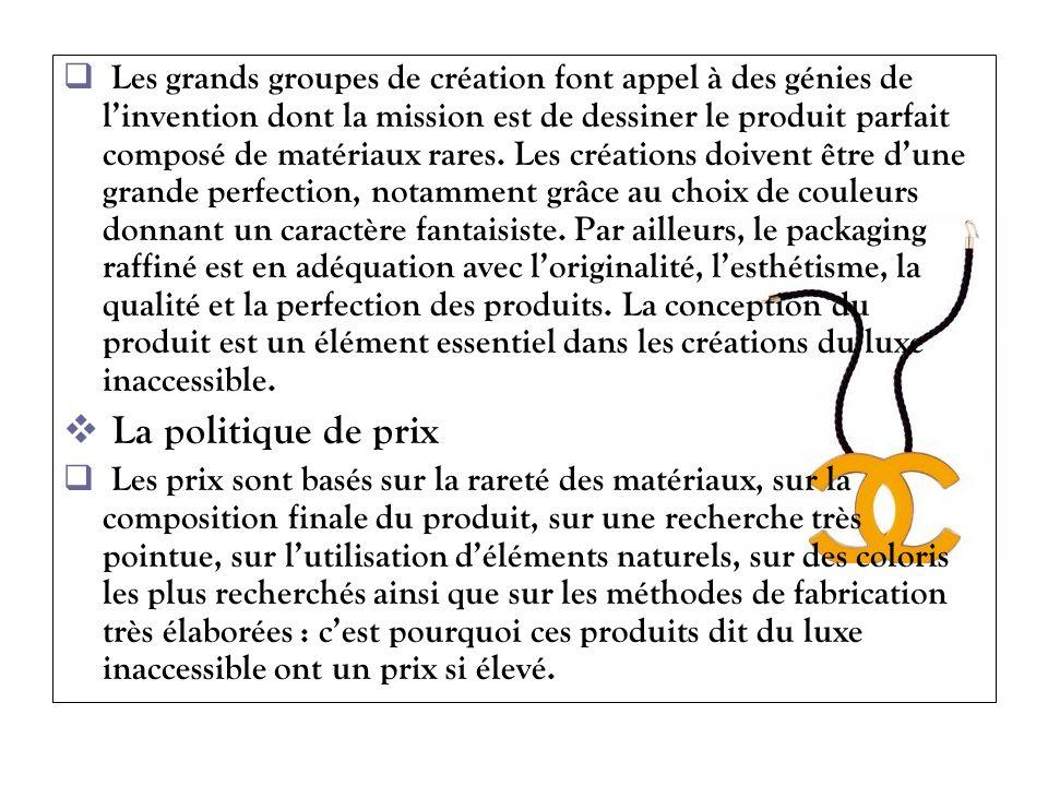 Les grands groupes de création font appel à des génies de linvention dont la mission est de dessiner le produit parfait composé de matériaux rares. Le