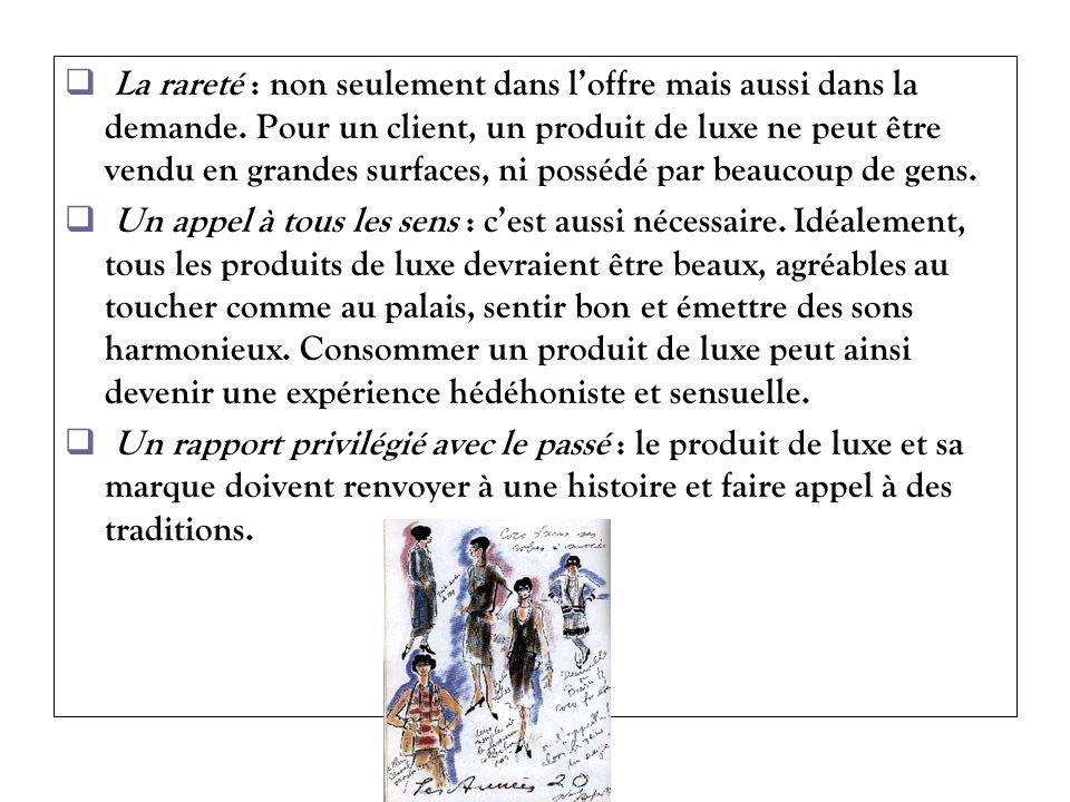 Les marques de luxe Dune façon générale, une marque associe un objet et une représentation, un élément objectif et une image subjective.