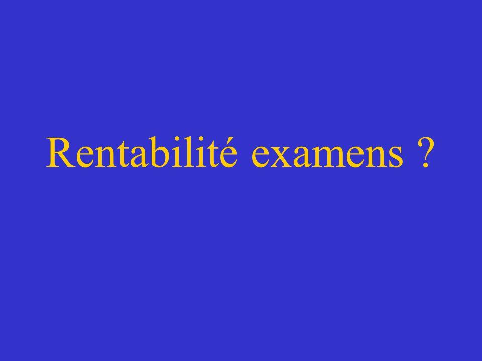 Rentabilité examens ?