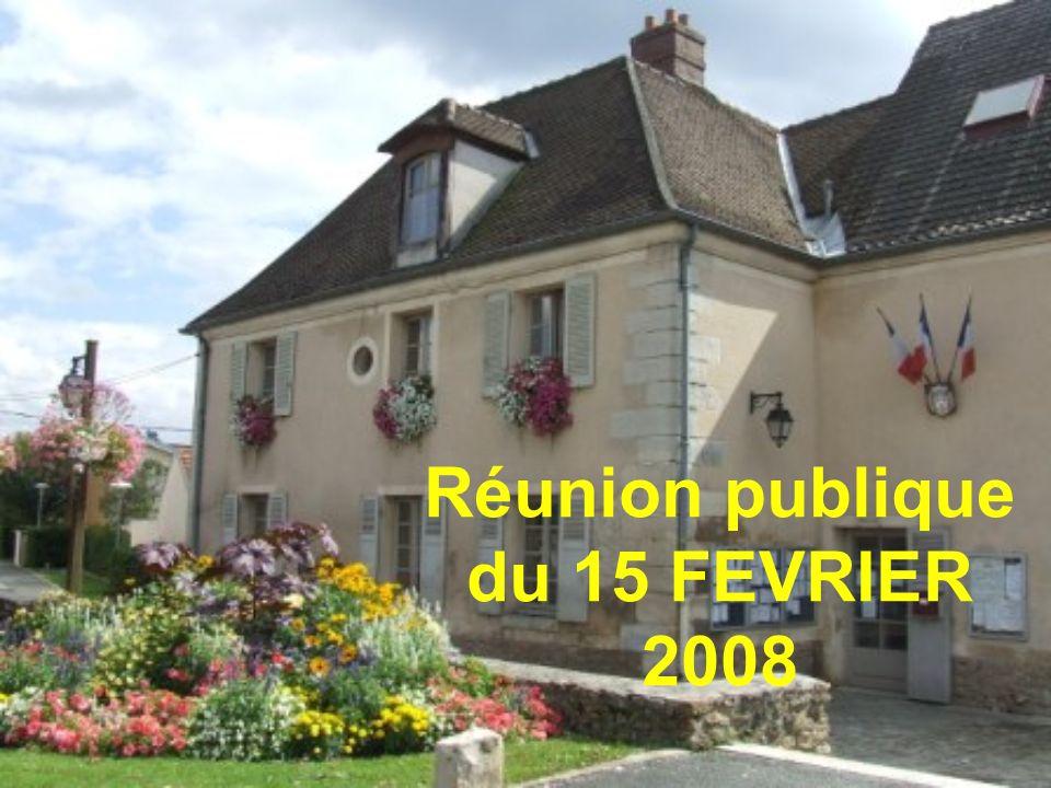 Réunion publique du 15 FEVRIER 2008