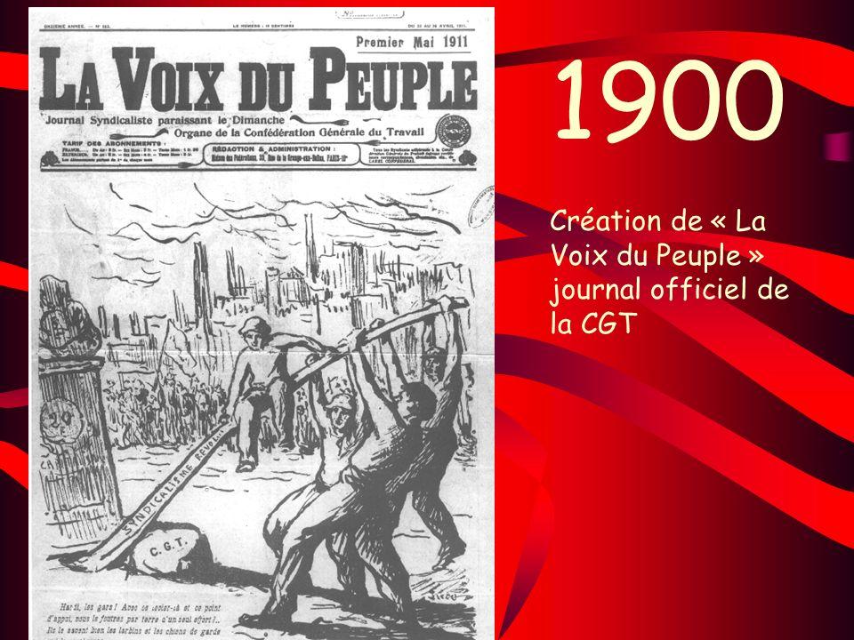 1900 Création de « La Voix du Peuple » journal officiel de la CGT