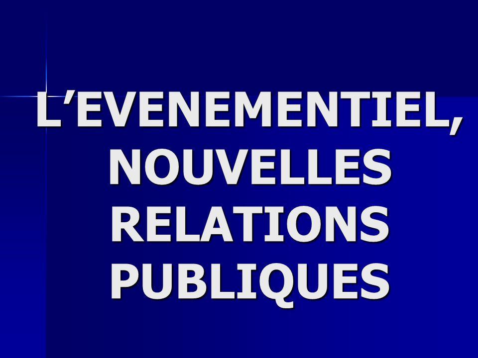 LEVENEMENTIEL, NOUVELLES RELATIONS PUBLIQUES