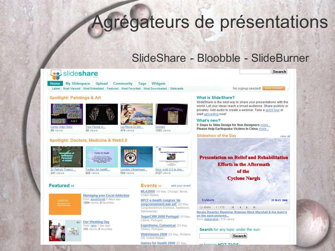 Agrégateurs de présentations SlideShare - Bloobble - SlideBurner
