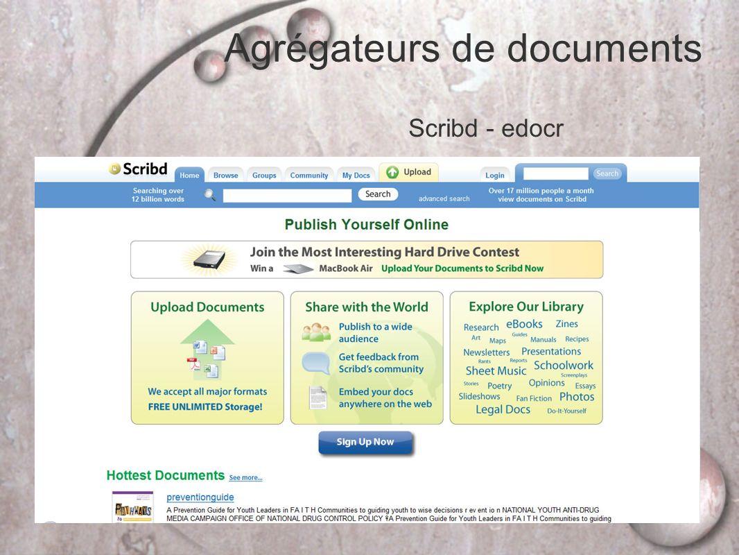 Agrégateurs de documents Scribd - edocr