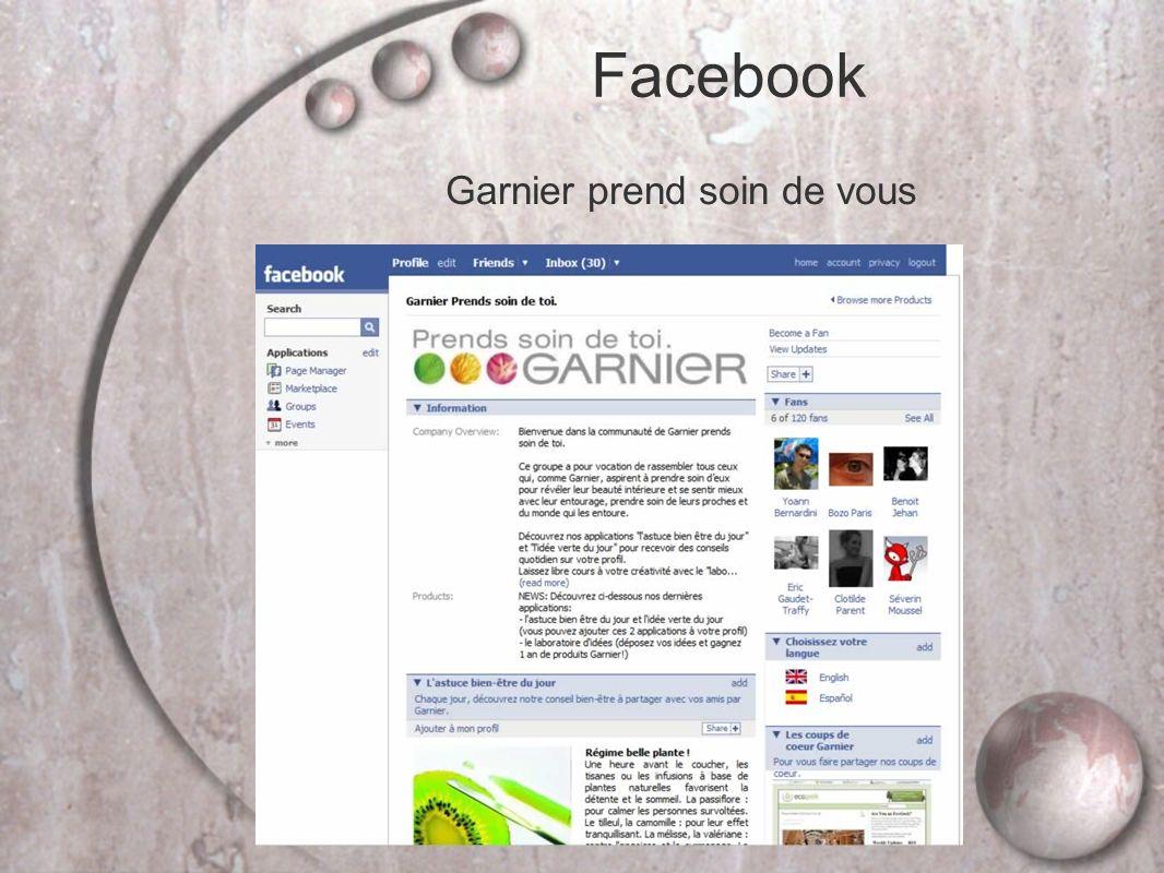 Facebook Garnier prend soin de vous