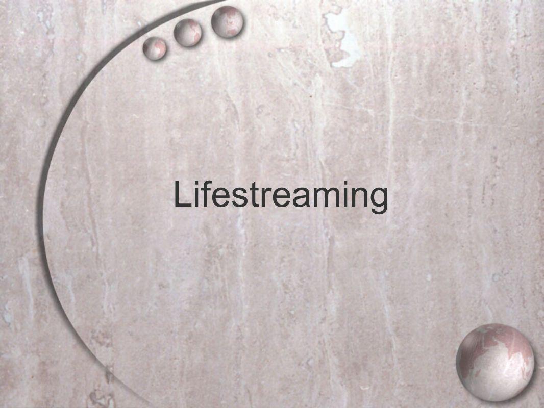 Lifestreaming