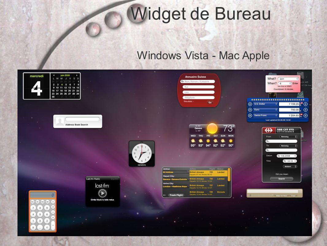 Widget de Bureau Windows Vista - Mac Apple