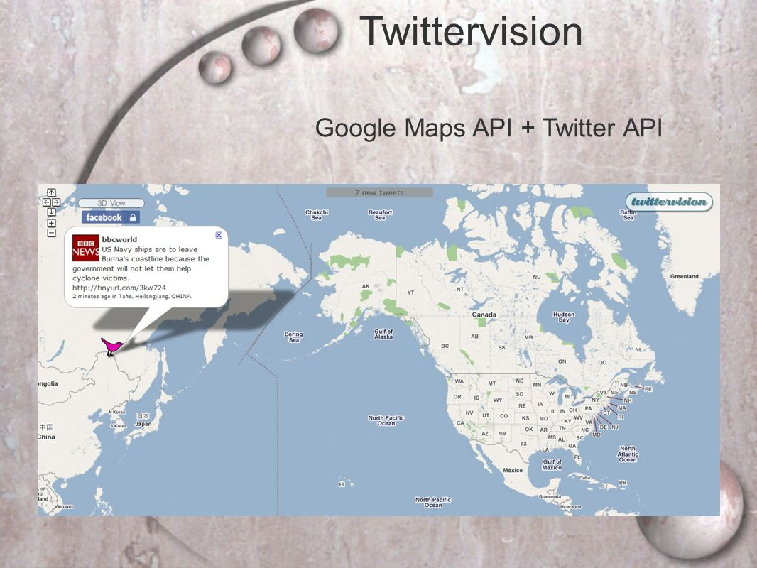 Google Maps API + Twitter API Twittervision