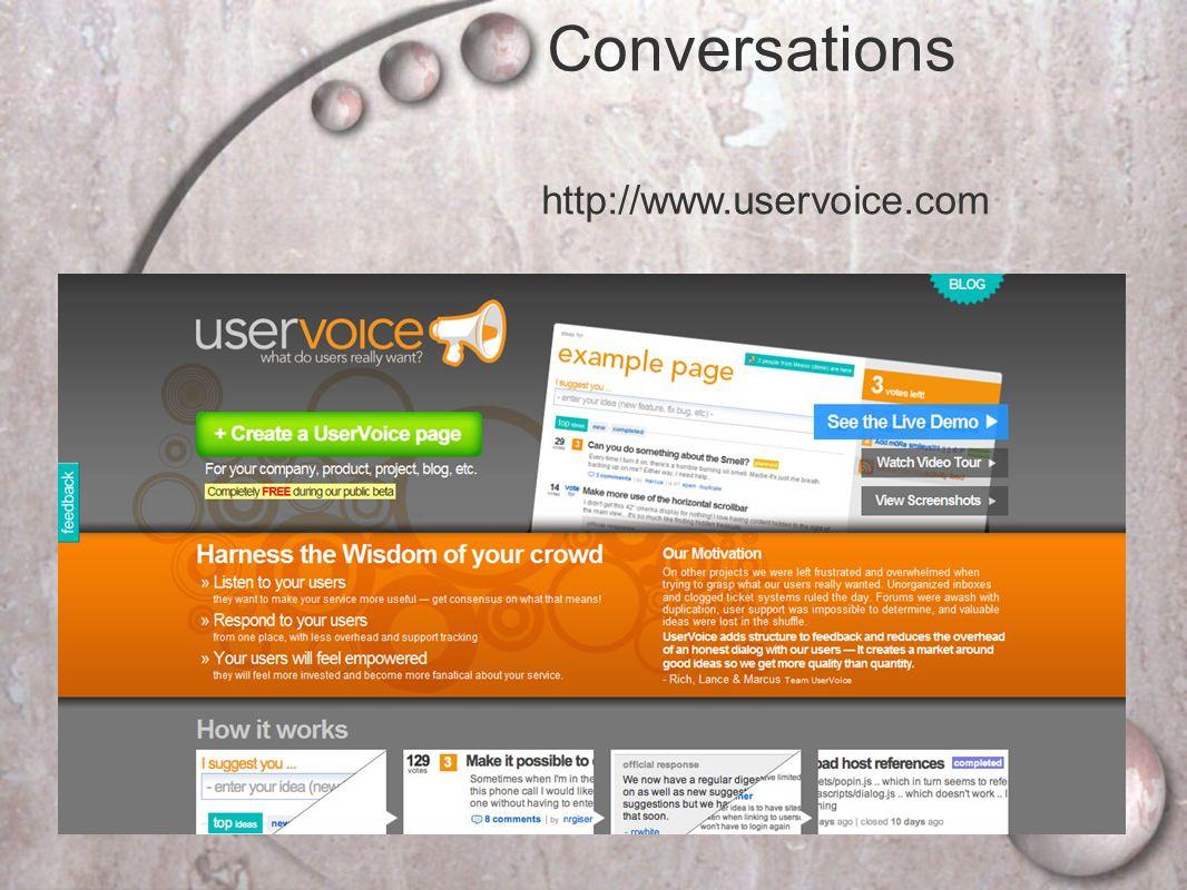 http://www.uservoice.com Conversations