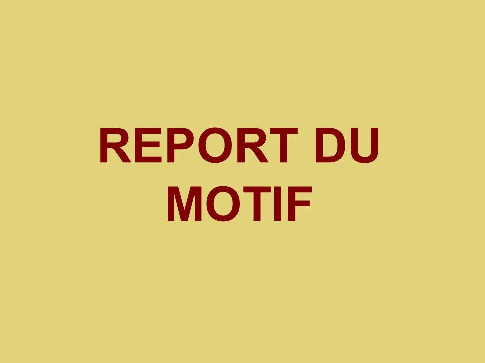 REPORT DU MOTIF