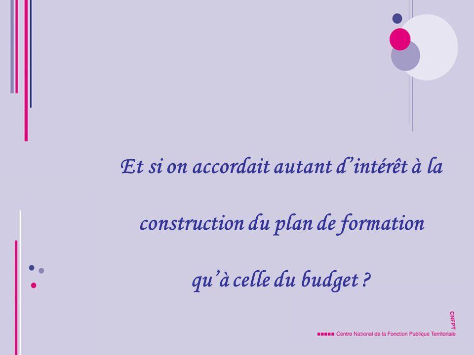 Et si on accordait autant dintérêt à la construction du plan de formation quà celle du budget ?