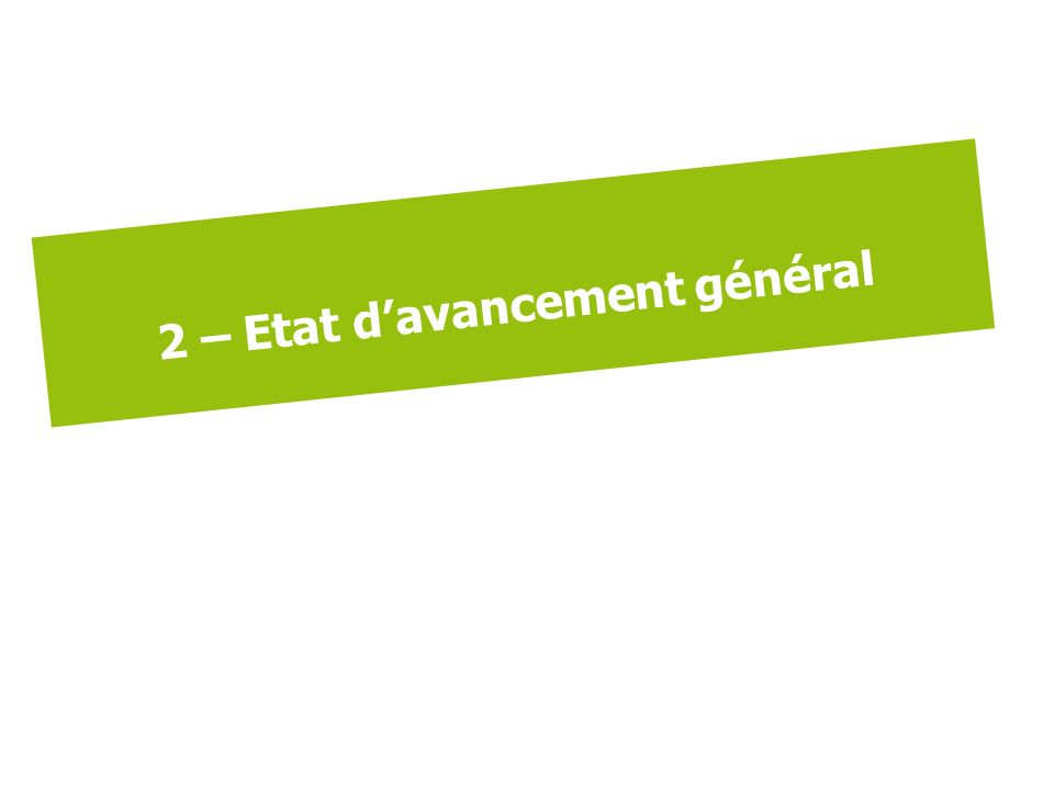 2 – Etat davancement général