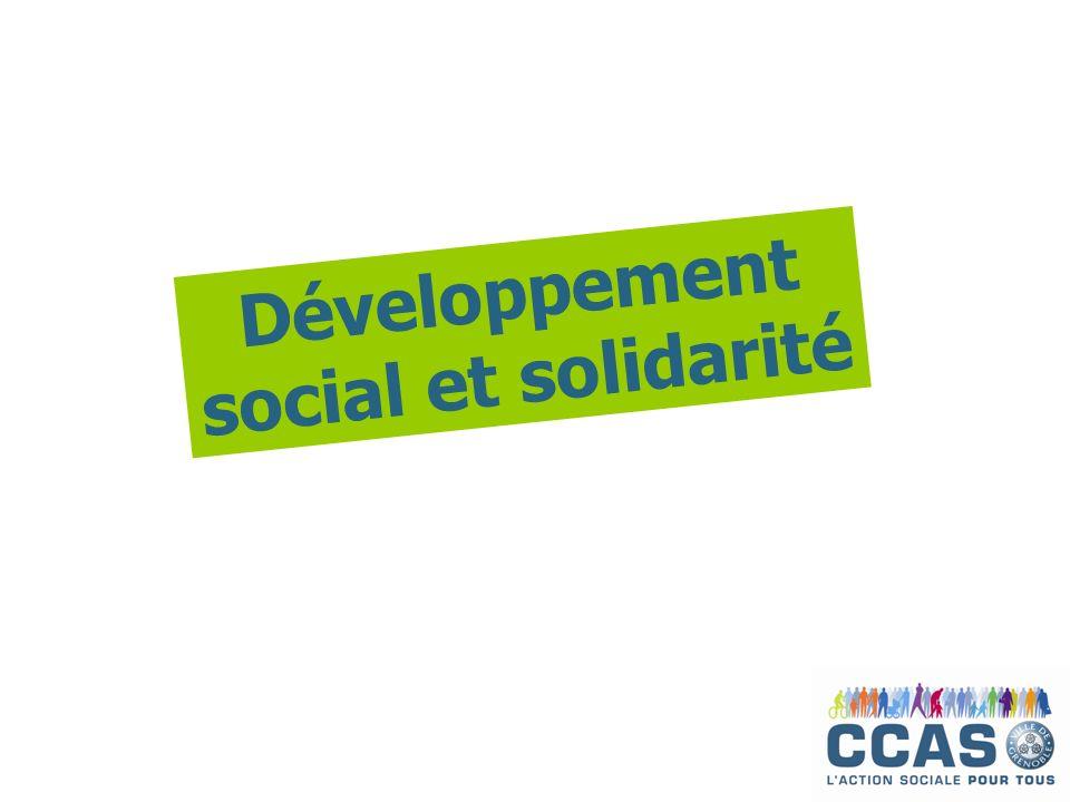 Développement social et solidarité
