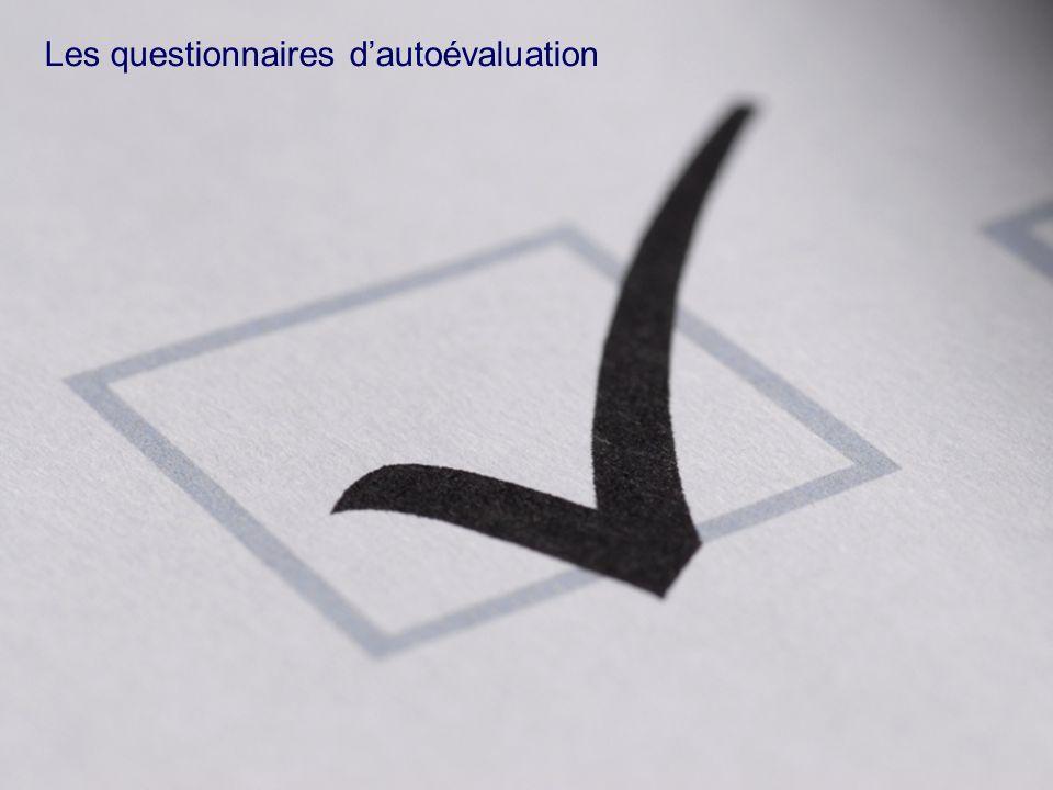 29 ©2007 Deloitte Conseil Les questionnaires dautoévaluation